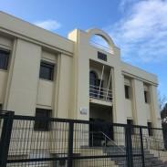 REHABILITACIONES DE FACHADAS: TRABAJOS DE ARPE PINTURA DE ALTURA - FACHADA EDIFICIO PALACIO DE JUSTICIA EN AYAMONTE REHABILITADA