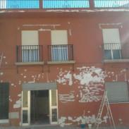 REHABILITACIONES DE FACHADAS: TRABAJOS DE ARPE PINTURA DE ALTURA - ANTES